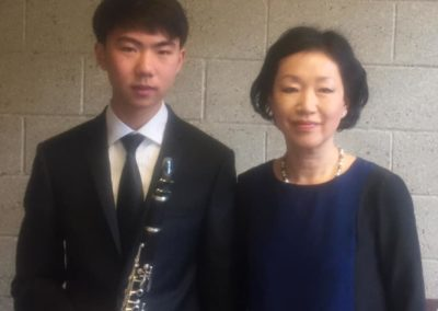 SeYong P with his outstanding piano collaborator, Dr. Jeongseon Choi at the Navy Band Competition Finals, March 2019